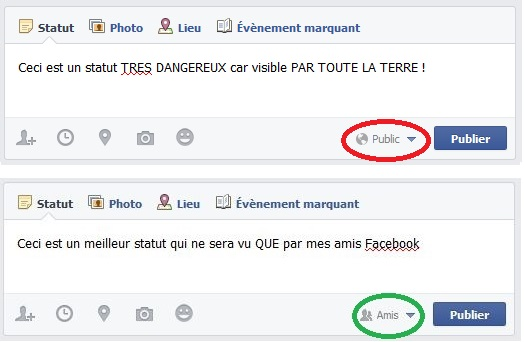 Statut bon/mauvais Facebook