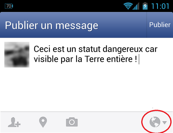 Statut Facebook mobile